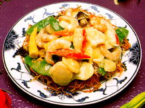 Panfried Noodles w/Seafood